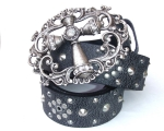 Black Stud strap with large cross