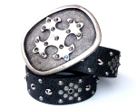 Black stud strap with Roman Cross Buckle