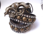 Brass Harley with Antique Fleur de Lys